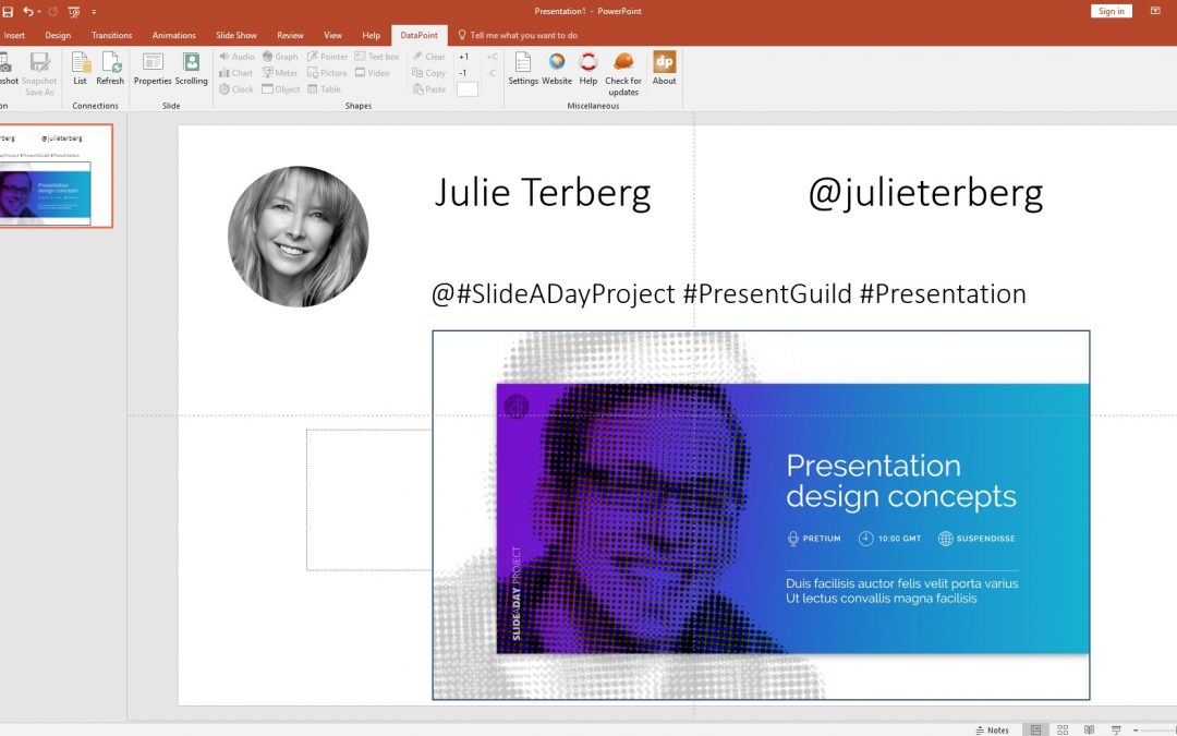 Twitter Wall with PowerPoint