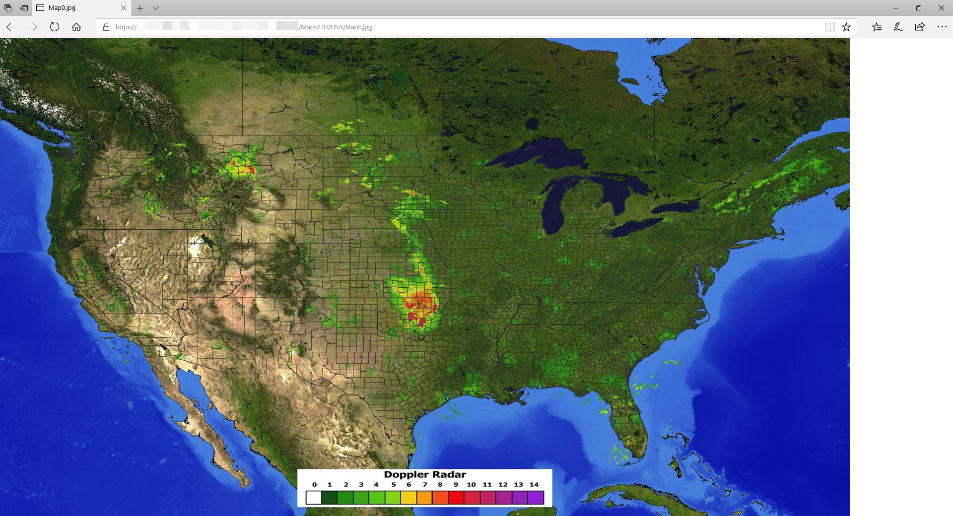 Live Doppler Radar Weather Map Image