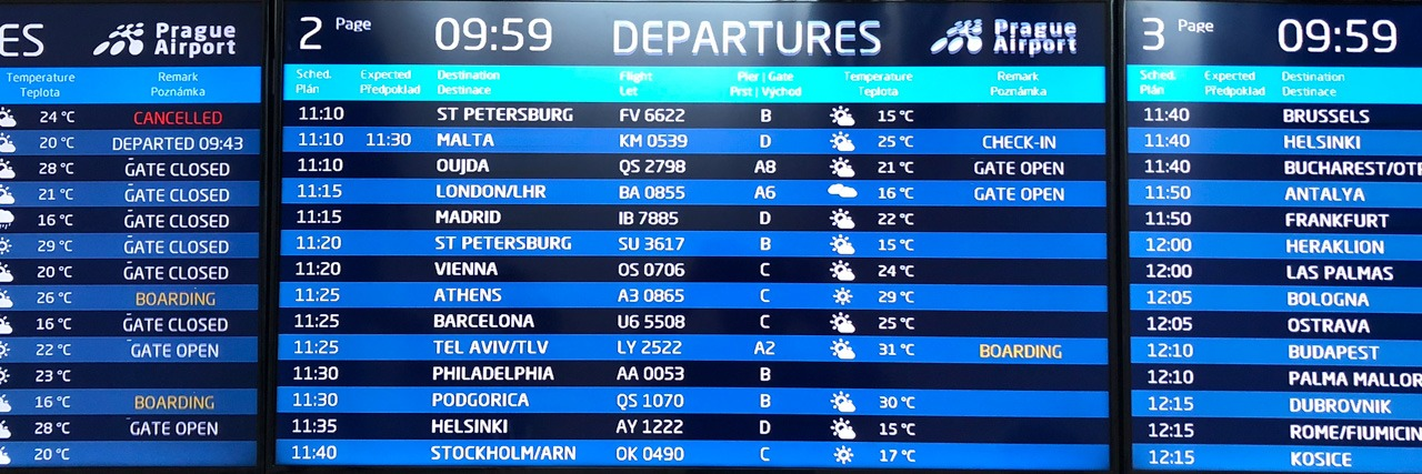 Calendario Fids.Flight Information Display System Fids For Airports