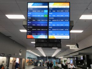 infoscreen in airport