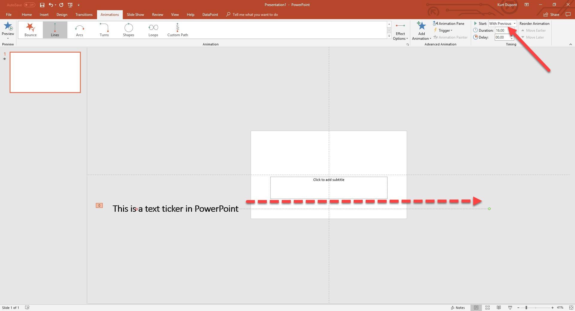 PowerPoint Ticker Text Animation - 3 Easy Methods • PresentationPoint