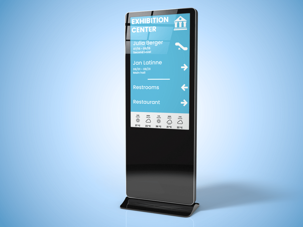 Digital signage for exhibition centers