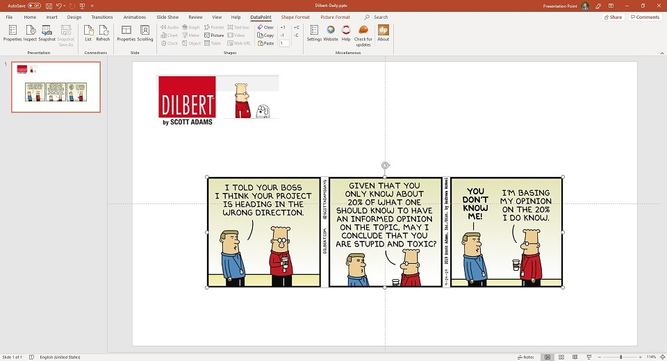 Add a Daily Cartoon to your Office Communication Screen