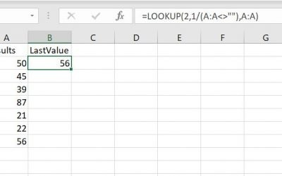 FAQ: Show the Last Value of an Excel Column