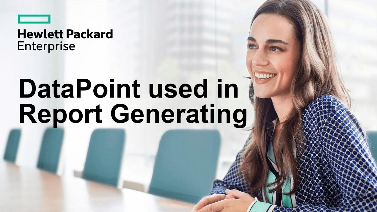 report generating case study - Hewett Packard Enterprise
