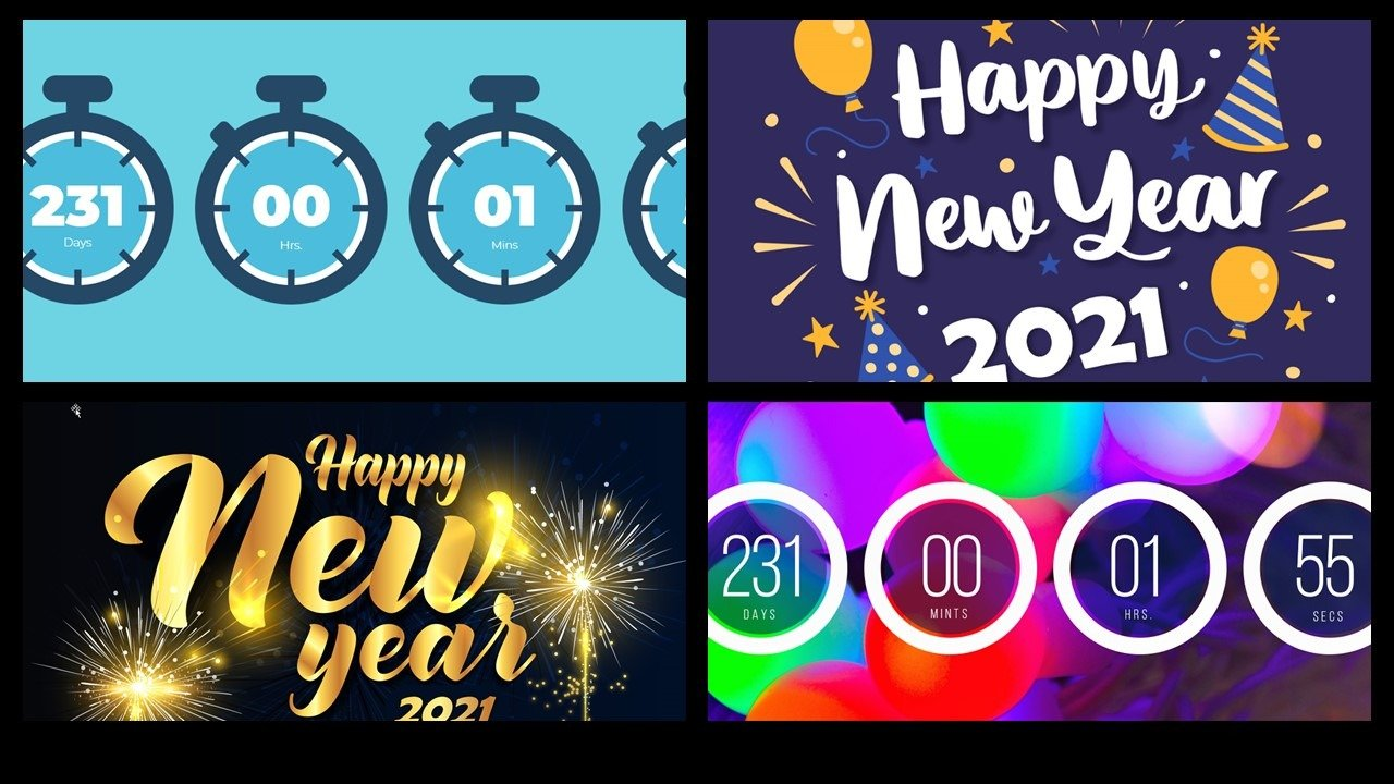 Countdown to New Year Screen • PresentationPoint