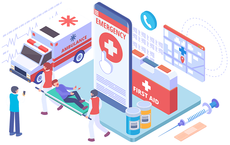medical screens and television and signage
