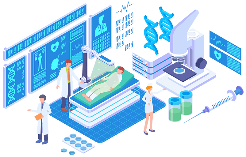 hospital screens and signage