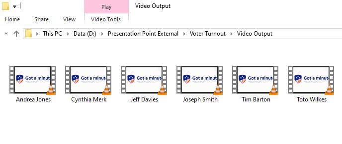 video output screenshot