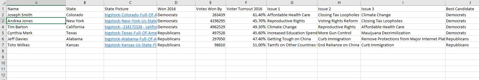 voter turnout excel screenshot