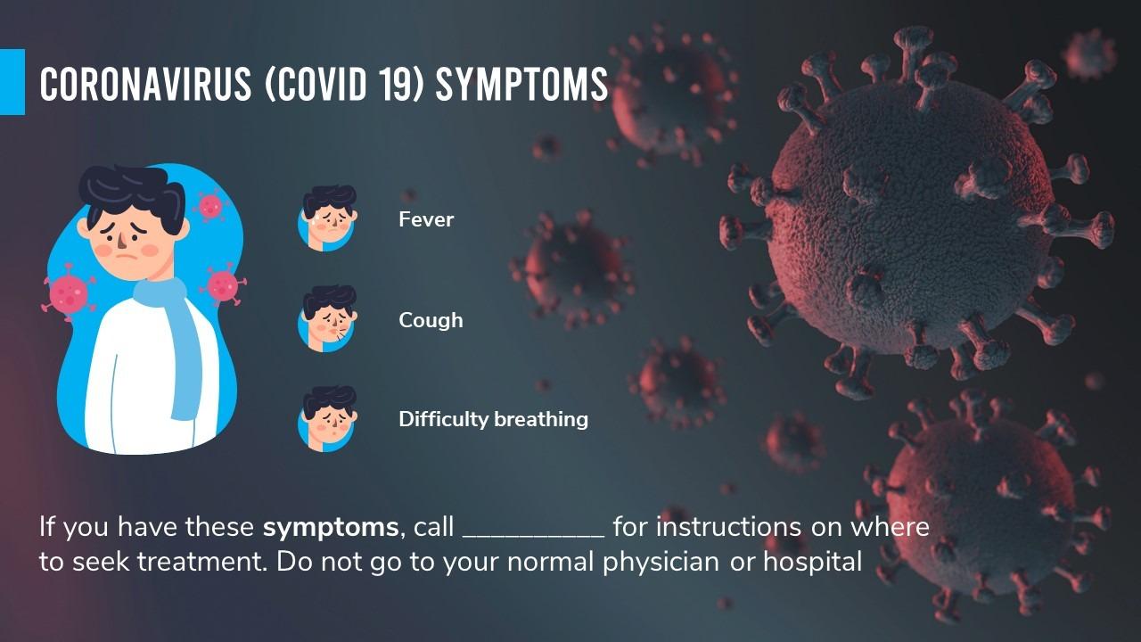 Coronavirus Tips Powerpoint Template Presentationpoint