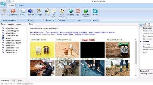 digital signage scheduler application