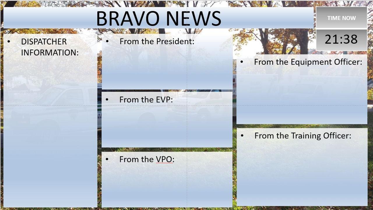 Department News Dashboard - Bravo Ambulance