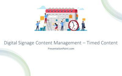 Digital Signage Content Management – Timed Content