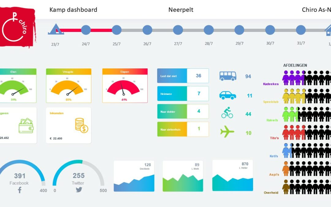 NonProfit Infographic Dashboard – Chiro Youth Camp