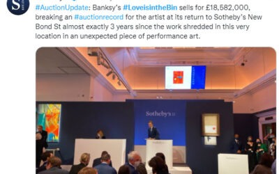 Sotheby's breaking an auction record for Banksy
